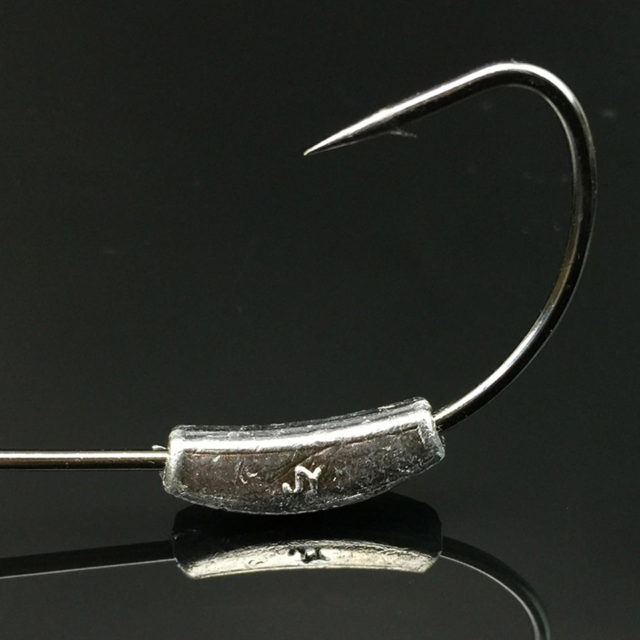 Weighted Fishing Hooks Set for Soft Lure