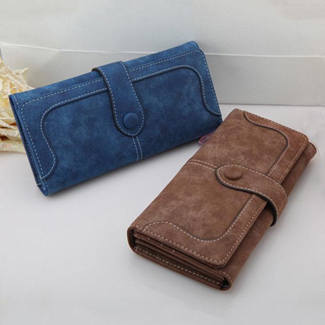 Women's Elegant Nubuck Wallet