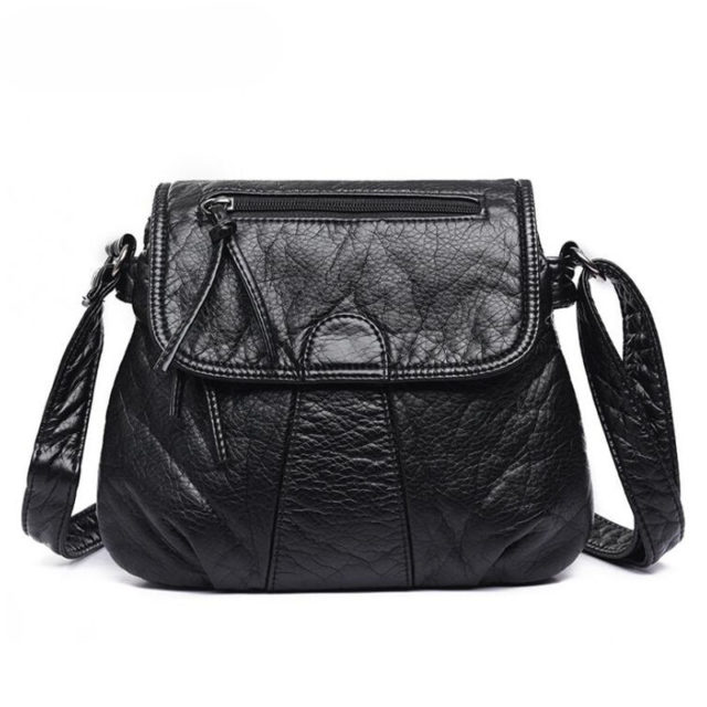 Elegant Compact Soft Leather Women's Crossbody Bag