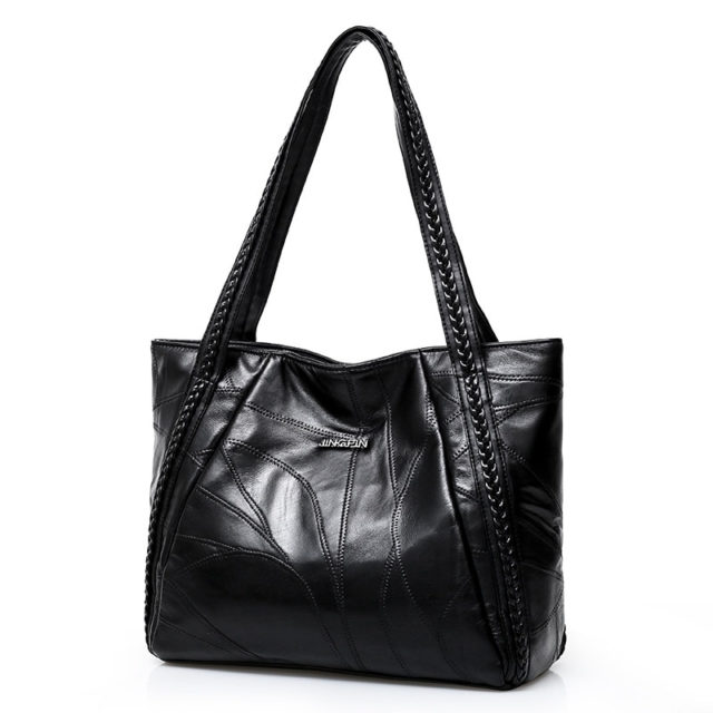 Casual Women's Genuine Leather Soft Shoulder Bag