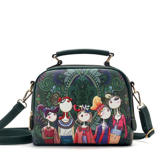 Women's Cartoon Printed Top-Handle Bags