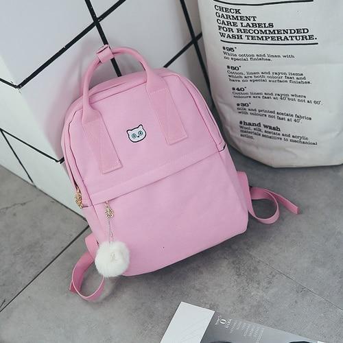 Women's Cat Printed Casual Backpack