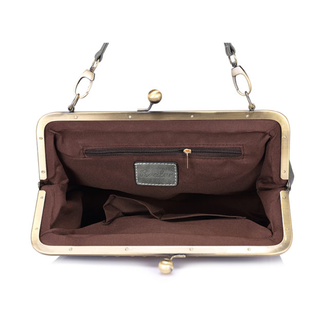Retro Style Leather Women's Frame Tote Bag