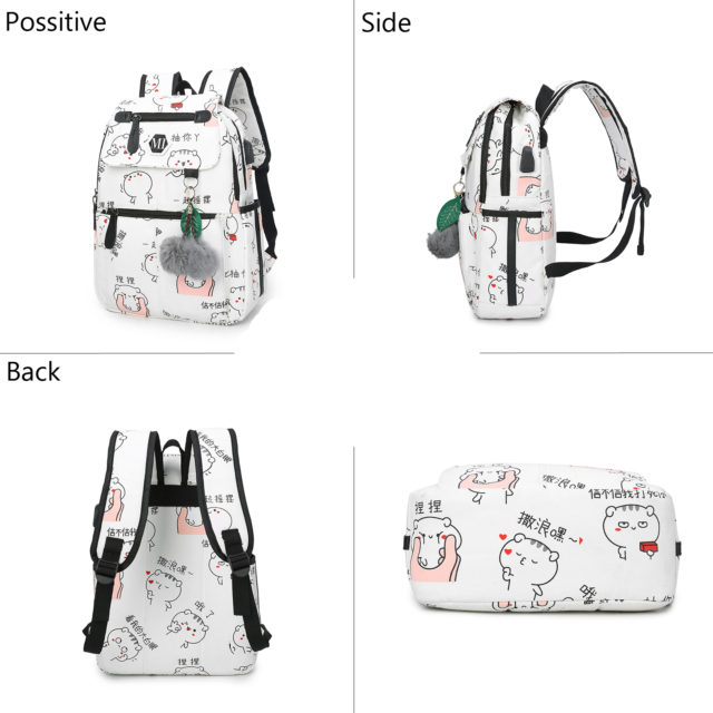 USB Charging Canvas Backpack