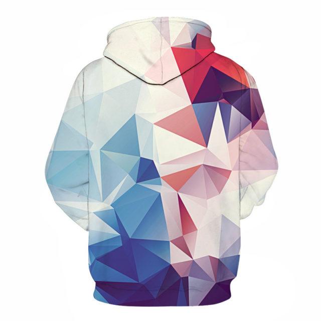 Men's Geometric Patterned Hoodie