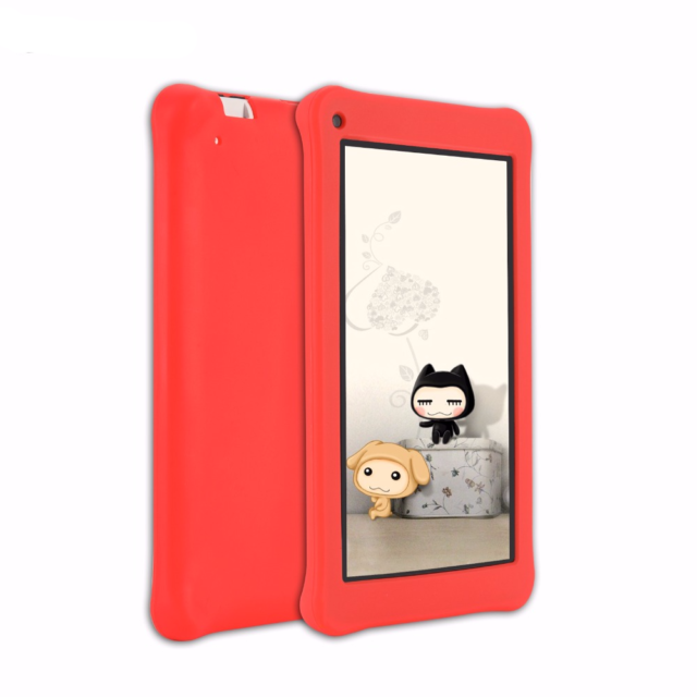 Cute Kids Educational Tablet with Silicone Case
