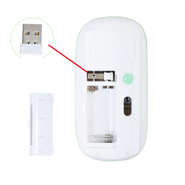 USB Optical Wireless Super Slim Computer Mouse
