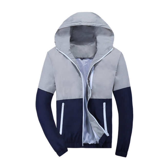 Fashion Men's Hooded Windbreakers