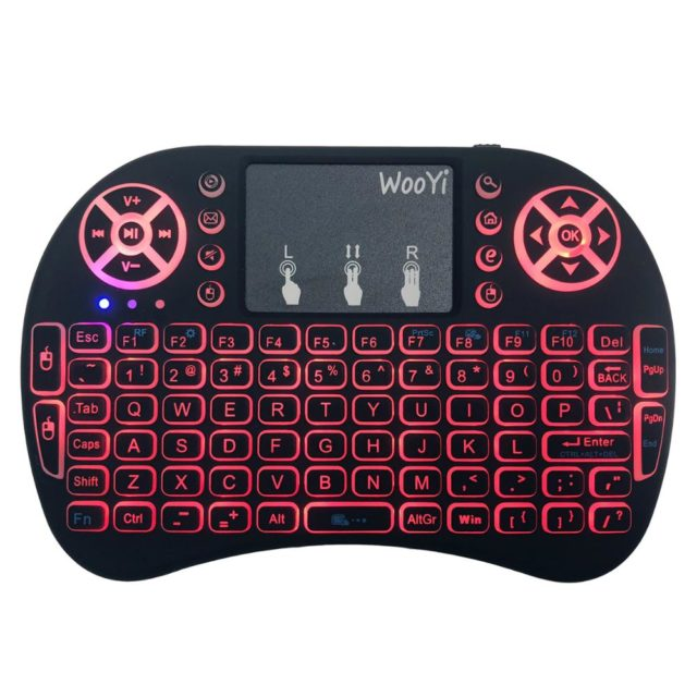 Mini Wireless Keyboard with Touchpad Remote Control