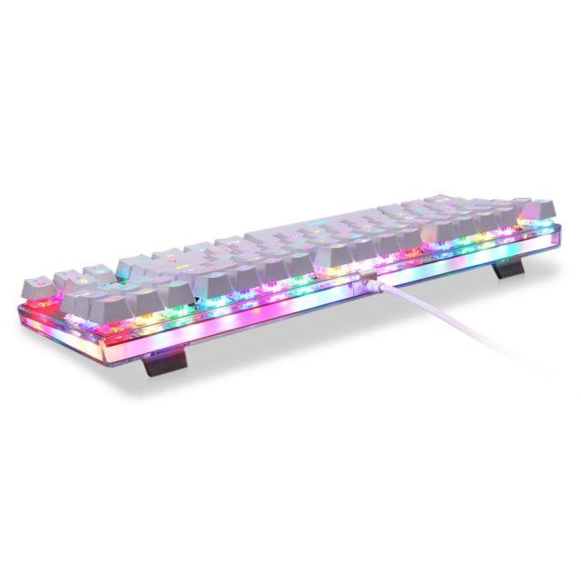 White LED Mechanical Keyboard for Gamers