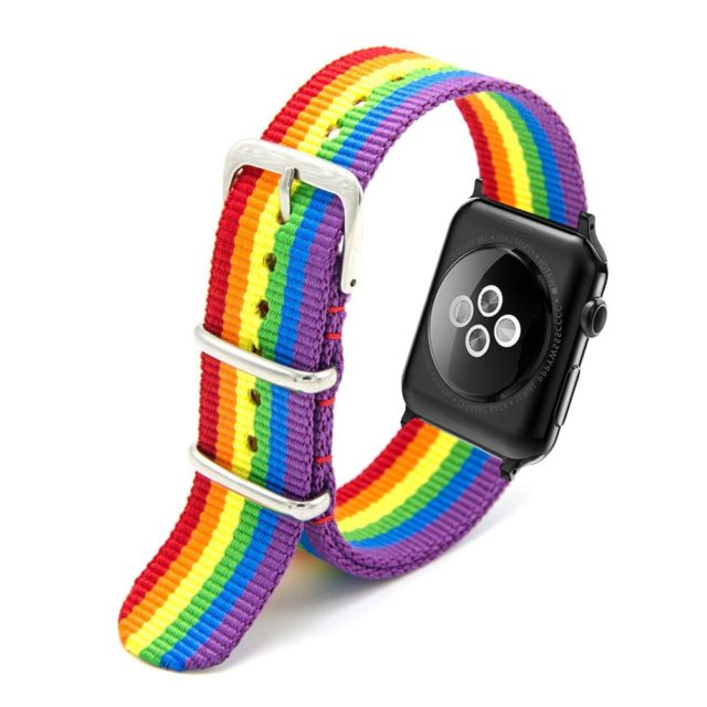 Woven Nylon Strap for Apple Watch with Metal Buckle
