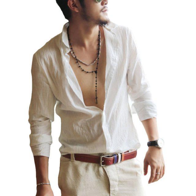 Men's Linen Summer Shirt