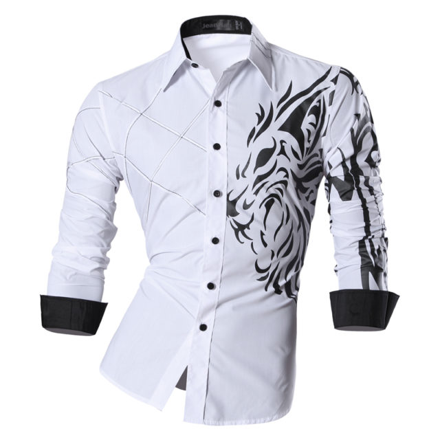 Men's Casual Jeans Shirt