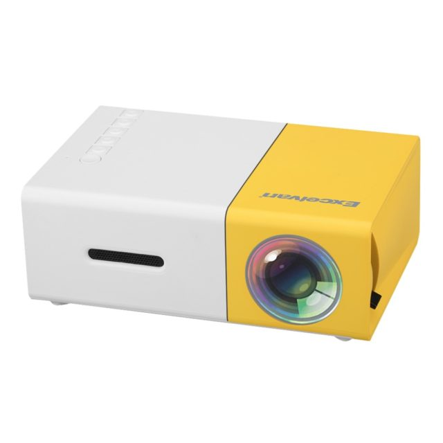 Fashion Compact LCD Projector With Build-in Speaker
