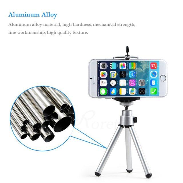 Portable Metal Mobile Phone Tripod Stand