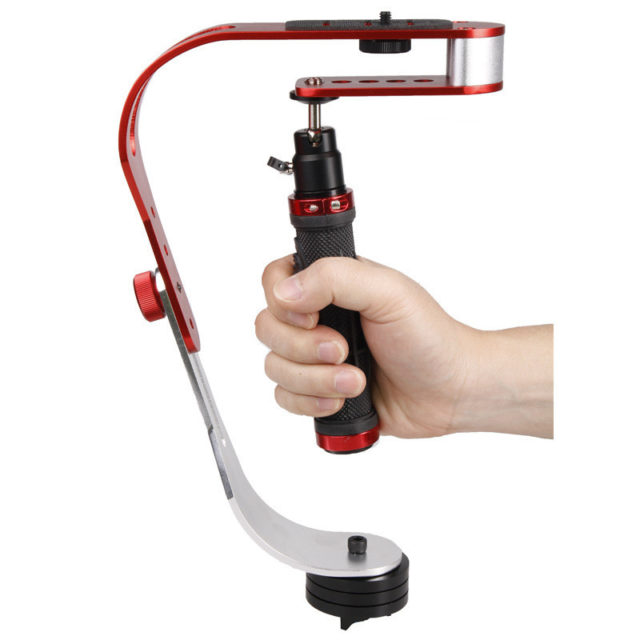 Compact Aluminum Camera Stabilizer with Phone Holder