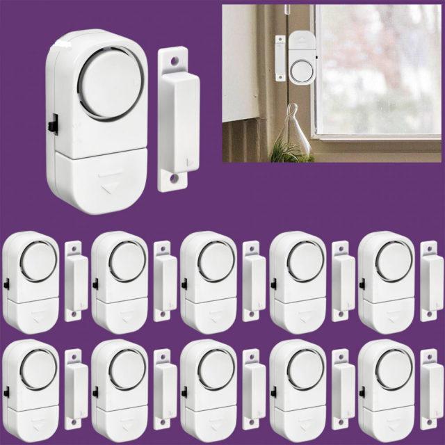 Door Sensors for Alarm System 10 pcs Set