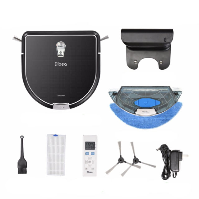 Smart Vacuum Cleaner with Wet Mopping Feature