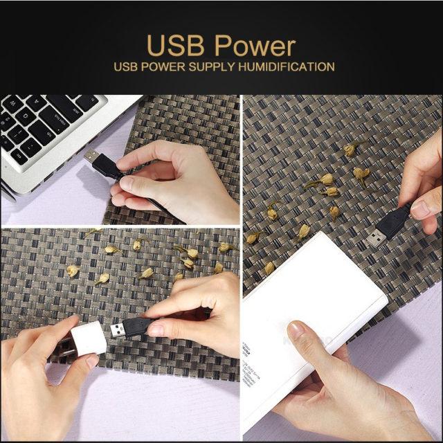 USB Round Aroma Essential Oil Diffuser
