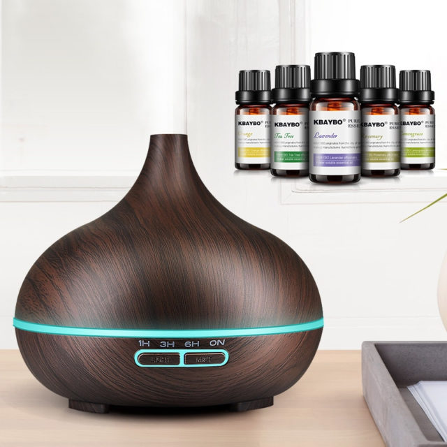 Wood Patterned Ultrasonic Oil Diffuser