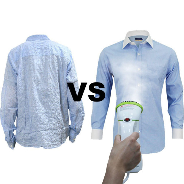 Portable Handheld Vertical Garment Steamer with Brush