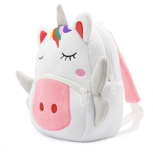 Kid's Plush Cartoon Animals School Backpack