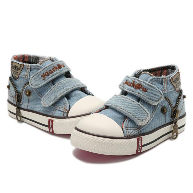 Kid's Zip-Through Canvas Shoes