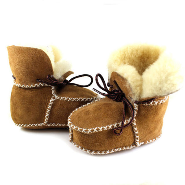 Winter Real Sheepskin Boots for Infants/Toddlers