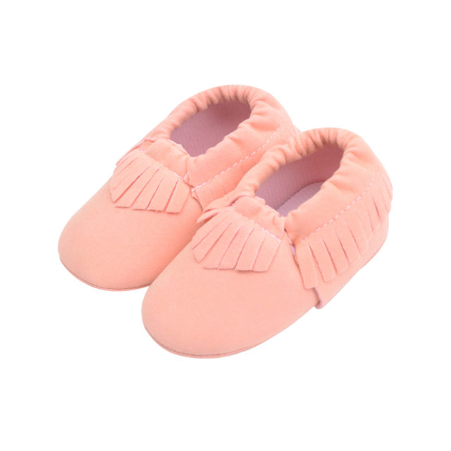 Baby's Soft Suede Tassel First Walkers