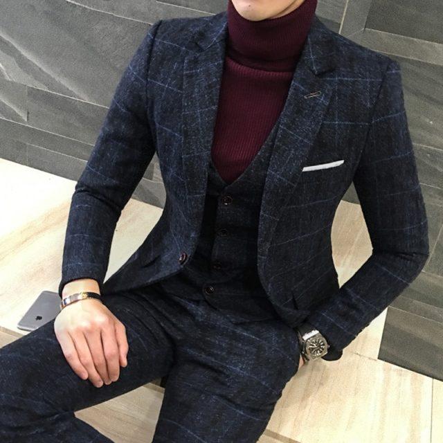 2 Pcs British Style Suit for Men