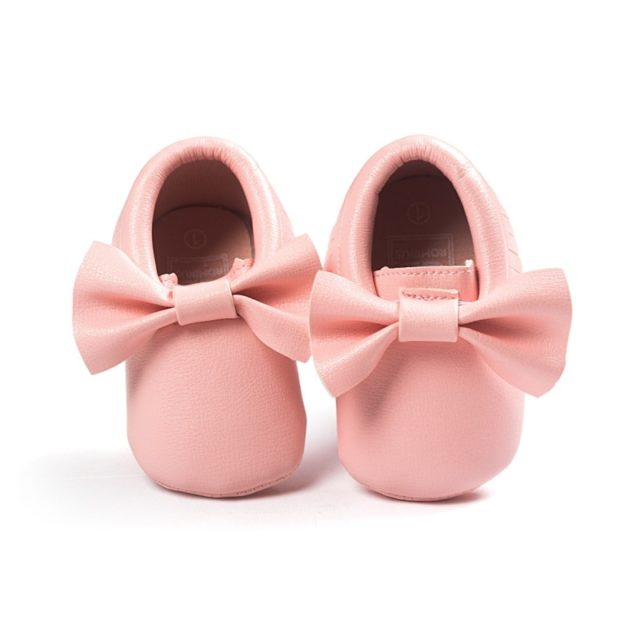 Fashion Comfortable Leather Baby Girl's Shoes with Bow