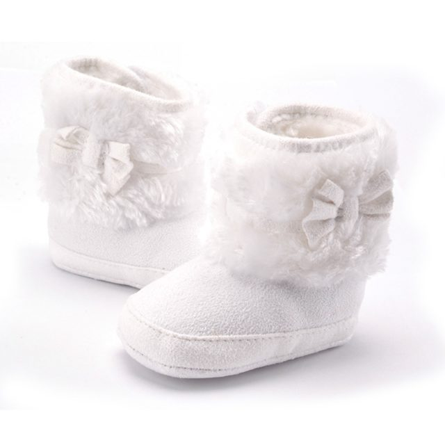 Knitting Hand-made Fleece Boots for Baby