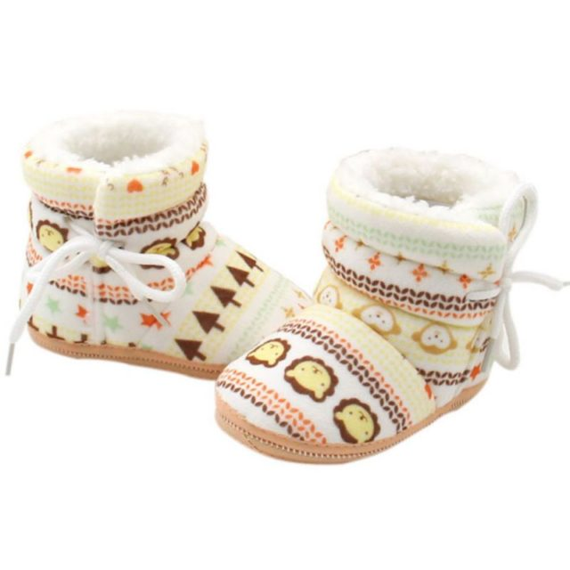 Cute Comfortable Warm Fleece Baby Boots