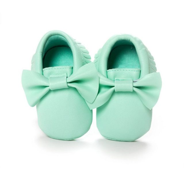 Fashion Comfortable Leather Baby Girl's Moccasins with Bow