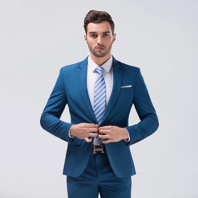 Slim Fit Colorful Suit for Men