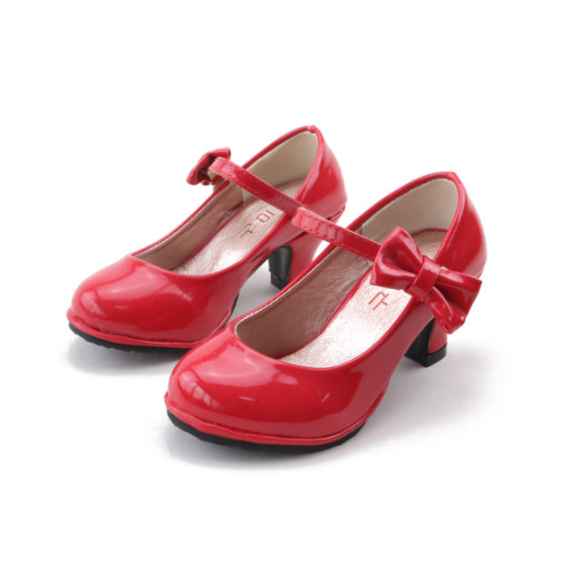 Kid's Heelled Shoes with Bow