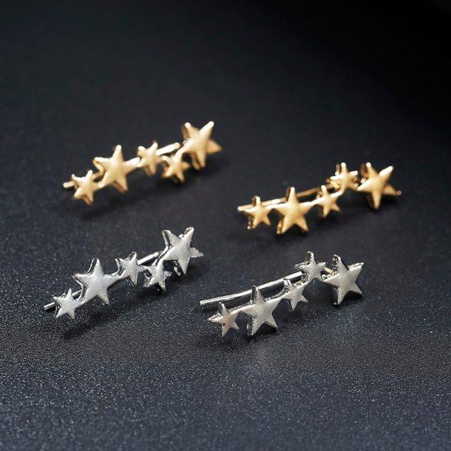 Women's Cute Star Shaped Climber Earrings