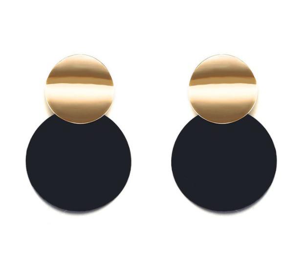 Trendy Eclipse Double Plate Earrings