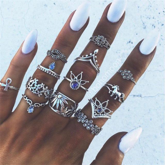Women's Vintage Bohemian Style Knuckle Rings
