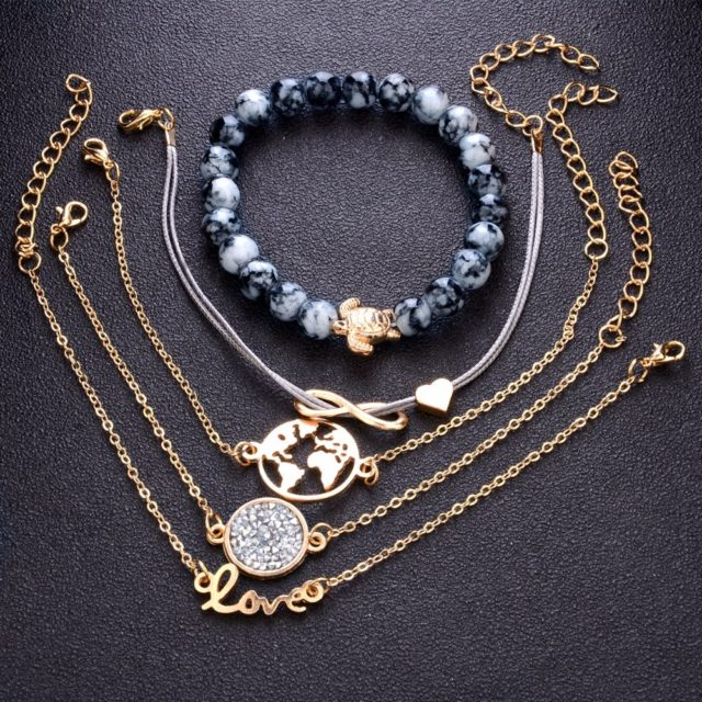 Women's Boho Layered Beaded Bracelet