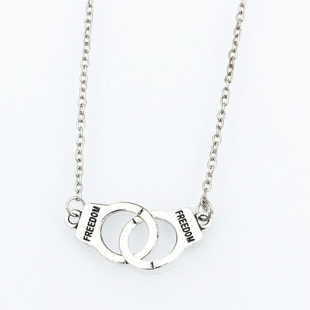Women's Handcuff Shaped Pendant Necklace / Bracelet