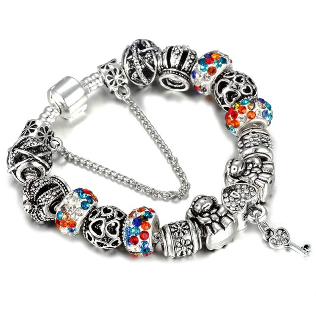 Women's Silver Plated Charm Bracelet