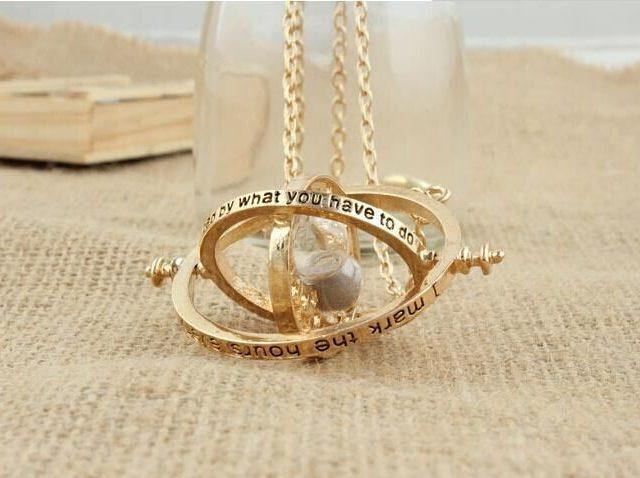 Unisex Vintage ELegant Time Turner Necklace