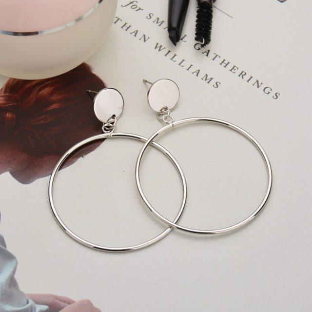Big Round Circle Earrings
