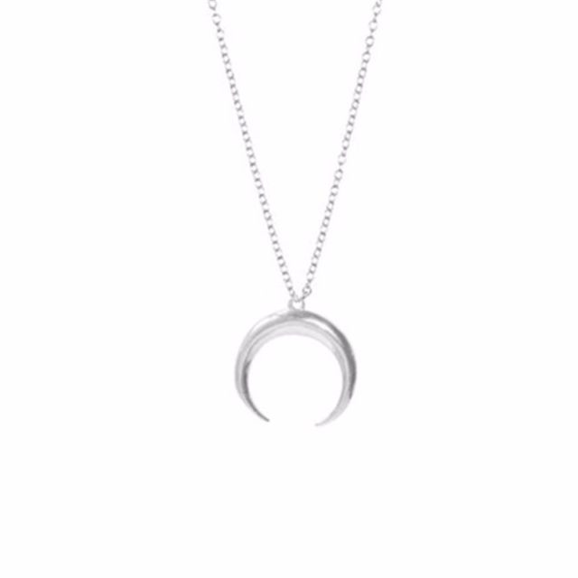 Elegant Woman's Moon Necklace