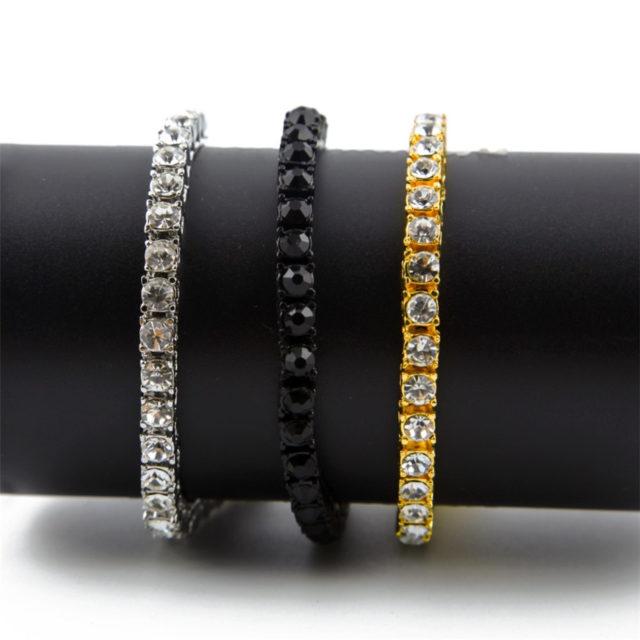 Women's Chain Bracelet with Rhinestone