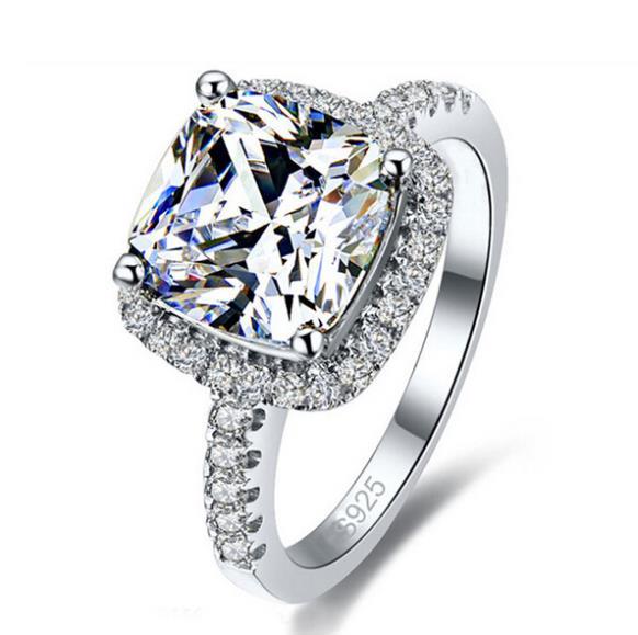 Women's Elegant Square Cut Engagement Rings