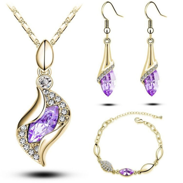 Elegant Luxury Fashion Colorful Jewelry Sets for Women