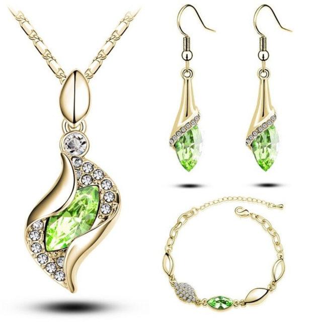 Elegant Luxury Fashion Colorful Jewelry Sets for Women