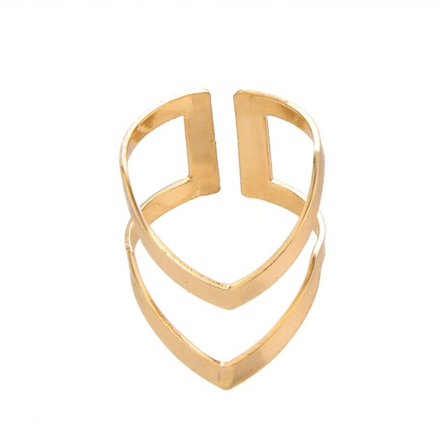 Women's Minimalistic Geometric Resizable Ring